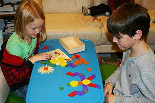 Toys Of Wood Oxford Towo 60 Formine Geometriche In Legno Per Creare Forme E Abbinamenti In Una Scatola Di Legno Gioco Tangram Di Selezione Di Forme Forme Geometriche Per Bambini Di 3 4 5 Anni 0 2