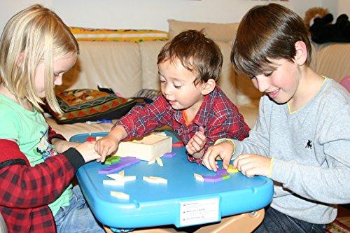 Toys Of Wood Oxford Towo 60 Formine Geometriche In Legno Per Creare Forme E Abbinamenti In Una Scatola Di Legno Gioco Tangram Di Selezione Di Forme Forme Geometriche Per Bambini Di 3 4 5 Anni 0 4