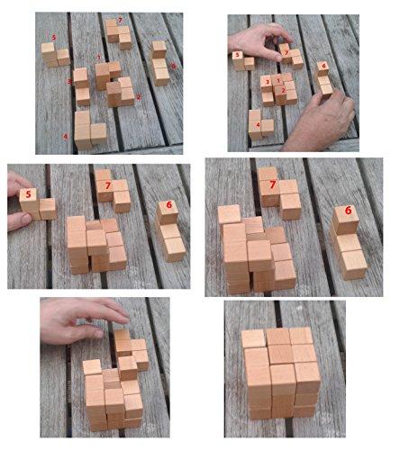 Toys Of Wood Oxford Towo Rompicapo In Legno Soma Cube Puzzle Giochi Intelligenti Per Bambini Adulti E Ragazzi Puzzle Rompicapo In Legno Rompicapo Legno 0 2