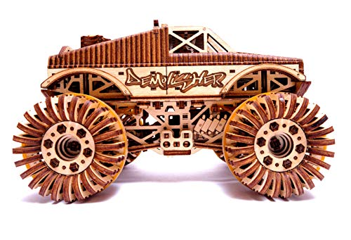 Wood Trick Auto Monster Truck Puzzle 3d Di Legno Tagliato Al Laser Set Di Costruzione Meccanica Assemblaggio Senza Colla 556 Pezzi 0 1