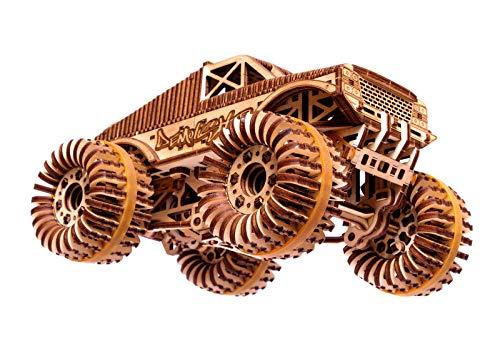 Wood Trick Auto Monster Truck Puzzle 3d Di Legno Tagliato Al Laser Set Di Costruzione Meccanica Assemblaggio Senza Colla 556 Pezzi 0 3