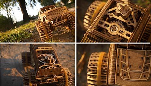 Wood Trick Auto Monster Truck Puzzle 3d Di Legno Tagliato Al Laser Set Di Costruzione Meccanica Assemblaggio Senza Colla 556 Pezzi 0 4