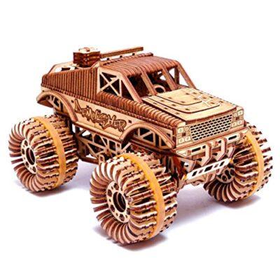 Wood Trick Auto Monster Truck Puzzle 3d Di Legno Tagliato Al Laser Set Di Costruzione Meccanica Assemblaggio Senza Colla 556 Pezzi 0