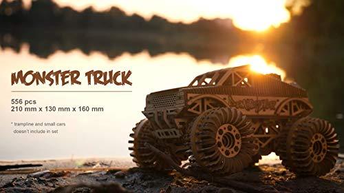 Wood Trick Auto Monster Truck Puzzle 3d Di Legno Tagliato Al Laser Set Di Costruzione Meccanica Assemblaggio Senza Colla 556 Pezzi 0 5