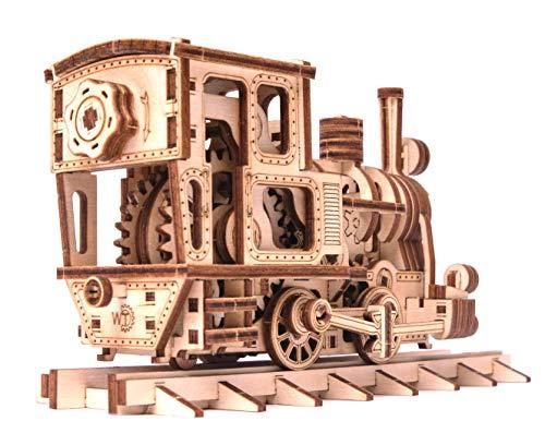 Wood Trick Chug Chug Treno Puzzle 3d Di Legno Tagliato Al Laser Set Di Costruzione Meccanica Rompicapo Per Bambini Ragazzi E Adulti Assemblaggio Senza Colla 0 0