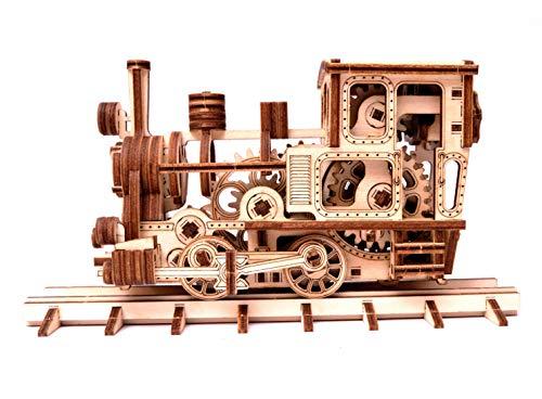 Wood Trick Chug Chug Treno Puzzle 3d Di Legno Tagliato Al Laser Set Di Costruzione Meccanica Rompicapo Per Bambini Ragazzi E Adulti Assemblaggio Senza Colla 0 1