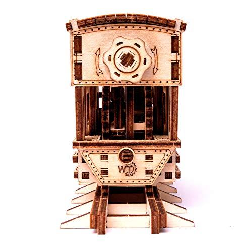 Wood Trick Chug Chug Treno Puzzle 3d Di Legno Tagliato Al Laser Set Di Costruzione Meccanica Rompicapo Per Bambini Ragazzi E Adulti Assemblaggio Senza Colla 0 2