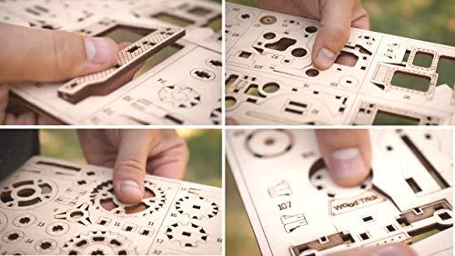 Wood Trick Chug Chug Treno Puzzle 3d Di Legno Tagliato Al Laser Set Di Costruzione Meccanica Rompicapo Per Bambini Ragazzi E Adulti Assemblaggio Senza Colla 0 3