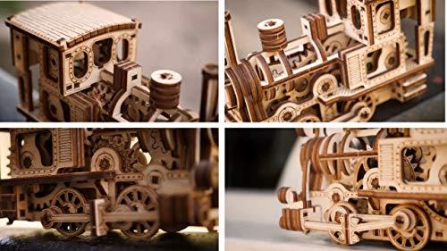 Wood Trick Chug Chug Treno Puzzle 3d Di Legno Tagliato Al Laser Set Di Costruzione Meccanica Rompicapo Per Bambini Ragazzi E Adulti Assemblaggio Senza Colla 0 4