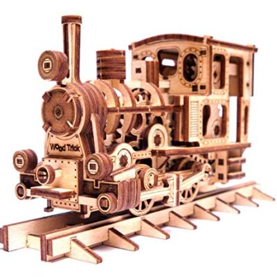 Wood Trick Chug Chug Treno Puzzle 3d Di Legno Tagliato Al Laser Set Di Costruzione Meccanica Rompicapo Per Bambini Ragazzi E Adulti Assemblaggio Senza Colla 0