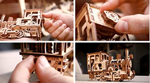 Wood Trick Chug Chug Treno Puzzle 3d Di Legno Tagliato Al Laser Set Di Costruzione Meccanica Rompicapo Per Bambini Ragazzi E Adulti Assemblaggio Senza Colla 0 5