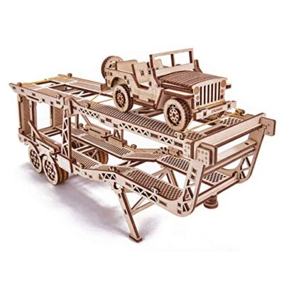 Wood Trick Puzzle Di Legno Puzzle 3d Rimorchio Auto 229 Pezzi 0