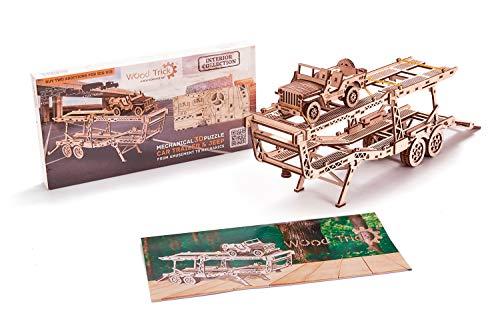 Wood Trick Puzzle Di Legno Puzzle 3d Rimorchio Auto 229 Pezzi 0 5