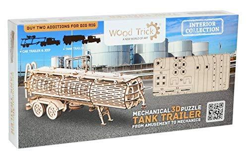 Wood Trick Puzzle Di Legno Puzzle 3d Rimorchio Del Carro Armato 200 Pezzi 0 4