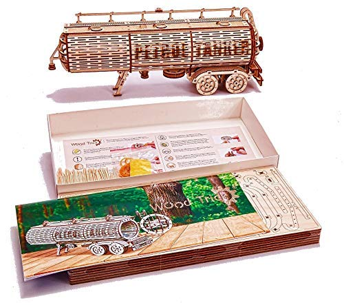 Wood Trick Puzzle Di Legno Puzzle 3d Rimorchio Del Carro Armato 200 Pezzi 0 5