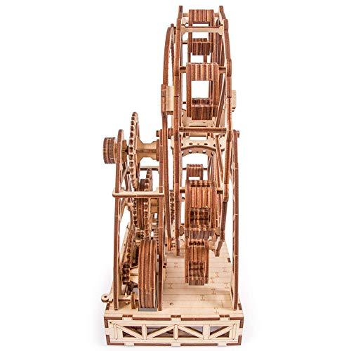 Wood Trick Ruota Panoramica Puzzle 3d Di Legno Tagliato Al Laser Set Di Costruzione Meccanica Rompicapo Per Bambini Ragazzi E Adulti Assemblaggio Senza Colla 227 Pezzi 0 5