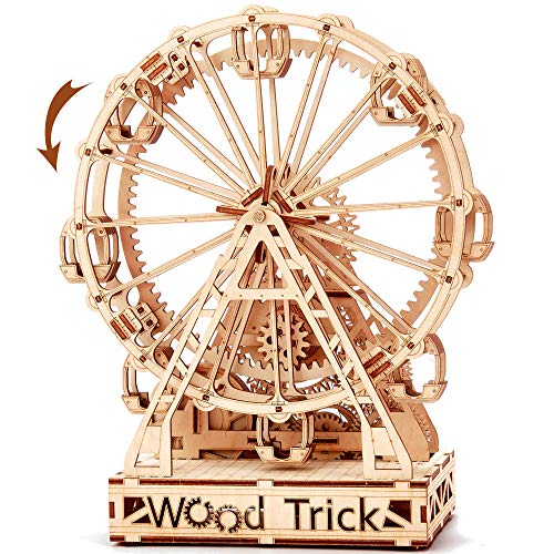 Wood Trick Ruota Panoramica Puzzle 3d Di Legno Tagliato Al Laser Set Di Costruzione Meccanica Rompicapo Per Bambini Ragazzi E Adulti Assemblaggio Senza Colla 227 Pezzi 0