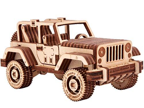 Wood Trick Set Di Automobili Puzzle 3d Di Legno Tagliato Al Laser Set Di Costruzione Meccanica Assemblaggio Senza Colla 0 0