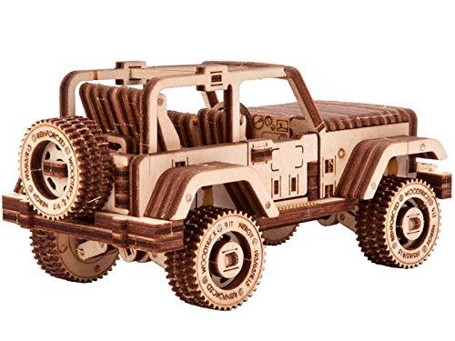 Wood Trick Set Di Automobili Puzzle 3d Di Legno Tagliato Al Laser Set Di Costruzione Meccanica Assemblaggio Senza Colla 0 1