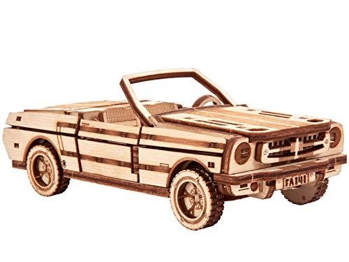 Wood Trick Set Di Automobili Puzzle 3d Di Legno Tagliato Al Laser Set Di Costruzione Meccanica Assemblaggio Senza Colla 0 2
