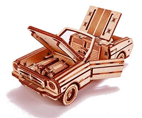 Wood Trick Set Di Automobili Puzzle 3d Di Legno Tagliato Al Laser Set Di Costruzione Meccanica Assemblaggio Senza Colla 0 3