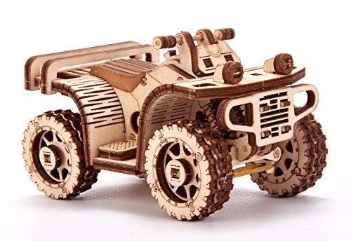 Wood Trick Set Di Automobili Puzzle 3d Di Legno Tagliato Al Laser Set Di Costruzione Meccanica Assemblaggio Senza Colla 0 4