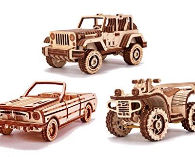 Wood Trick Set Di Automobili Puzzle 3d Di Legno Tagliato Al Laser Set Di Costruzione Meccanica Assemblaggio Senza Colla 0