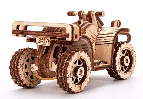 Wood Trick Set Di Automobili Puzzle 3d Di Legno Tagliato Al Laser Set Di Costruzione Meccanica Assemblaggio Senza Colla 0 5
