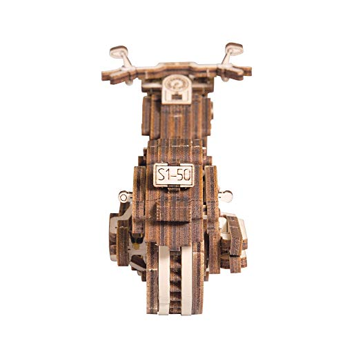 Wooden City V Twin Cruiser Puzzle 3d Di Legno Tagliato Al Laser Set Di Costruzione Meccanica Rompicapo Per Bambini Ragazzi E Adulti Assemblaggio Senza Colla 0 1