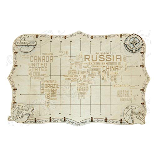 Wooden City World Map Words Puzzle Meccanico Wm508 0 0