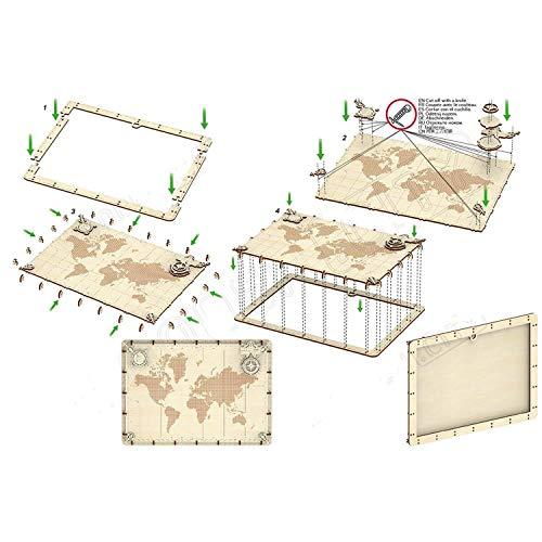 Wooden City World Map Words Puzzle Meccanico Wm508 0 1
