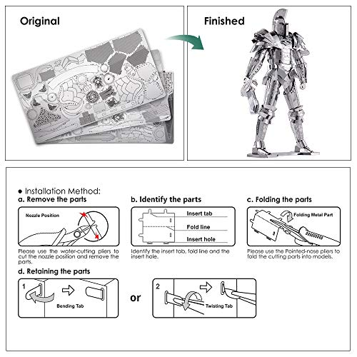 Piececool Puzzle 3d Fai Da Te In Metallo Modello Di Guerra Armata Per Adulti Colore Nero 125 Pezzi 0 2