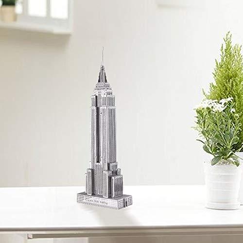 Piececool Puzzle 3d Fai Da Te In Metallo Per Adulti Modello Empire State Building 21 Pezzi Argento 0 0