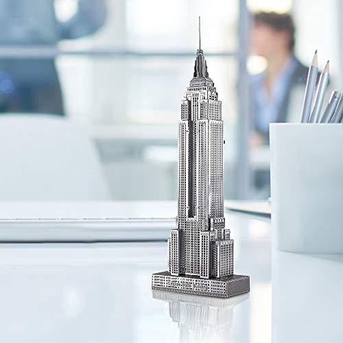 Piececool Puzzle 3d Fai Da Te In Metallo Per Adulti Modello Empire State Building 21 Pezzi Argento 0 1