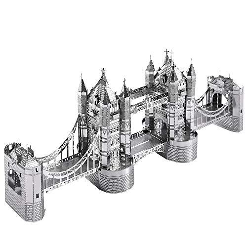 Piececool Puzzle 3d Tagliato A Laser Modello Tradizionale Di Architettura In Metallo Per Adulti London Tower Bridge 65 Pezzi 0