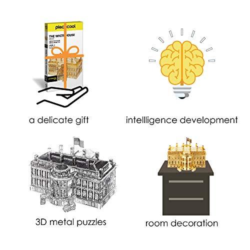 Piececool The White House Puzzle In Metallo 3d Per Adulti Modello Tradizionale Di Architettura Tradizionale Del Mondo 122 Pezzi Oro 0 3