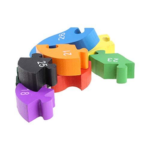Qingqingr Alfabeto Jigsaw Puzzle Building Blocks Puzzle Di Legno Animale Lettere Di Serpente Di Legno Numeri Block Toys For Children Toys Snake 0 0