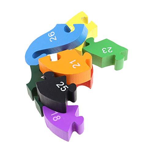 Qingqingr Alfabeto Jigsaw Puzzle Building Blocks Puzzle Di Legno Animale Lettere Di Serpente Di Legno Numeri Block Toys For Children Toys Snake 0 5